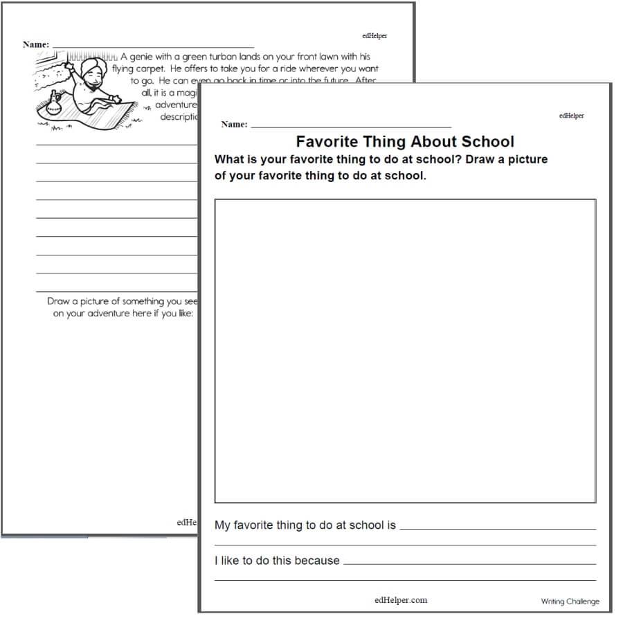 Writing Worksheets for Creative Kids  Free PDF Printables For Second Grade Social Studies Worksheet