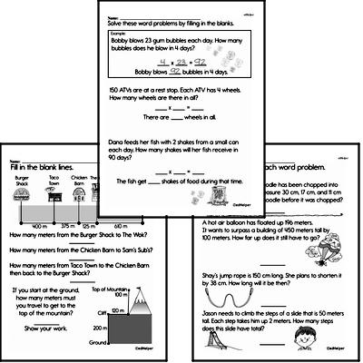 Measurement of Length<BR>Hybrid Distance Learning or At School Math Practice Workbook<BR><BR>(Chapter #7)