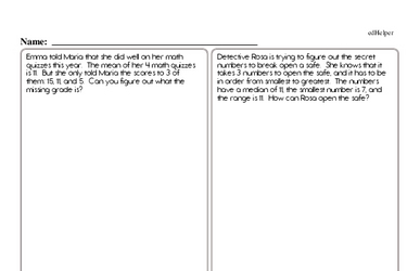 Data and Probability<BR>Hybrid Distance Learning or At School Math Practice Workbook<BR><BR>(Chapter #5)