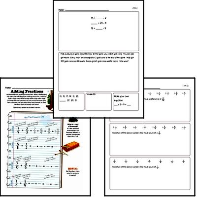 Fractions and Mixed Numbers<BR>Hybrid Distance Learning or At School Math Practice Workbook<BR><BR>(Chapter #6)