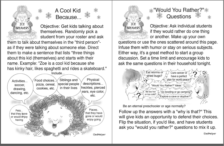 1st Grade Ice Breakers (Free PDF Download)