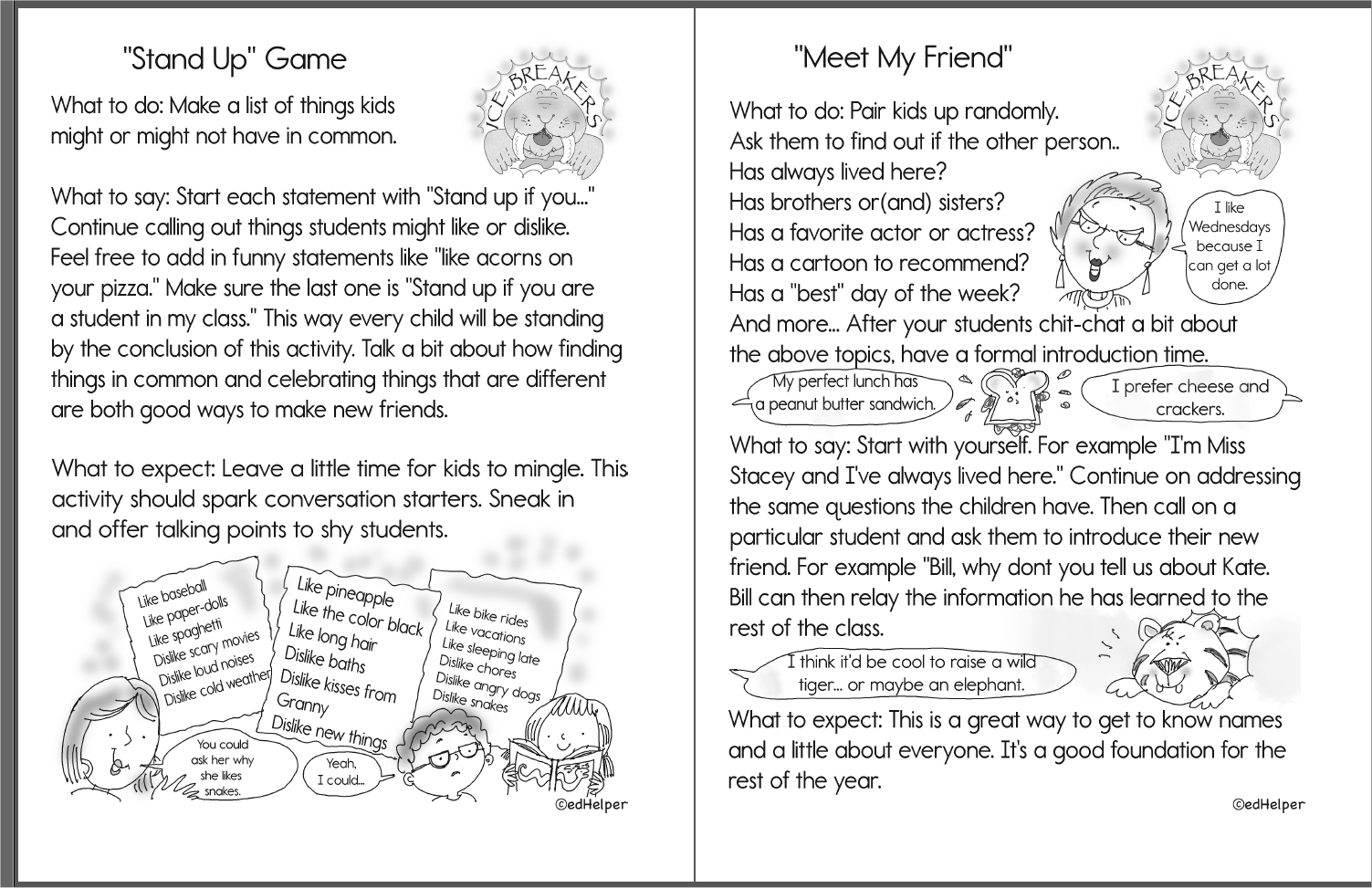 2nd Grade Ice Breakers (Free PDF Download)