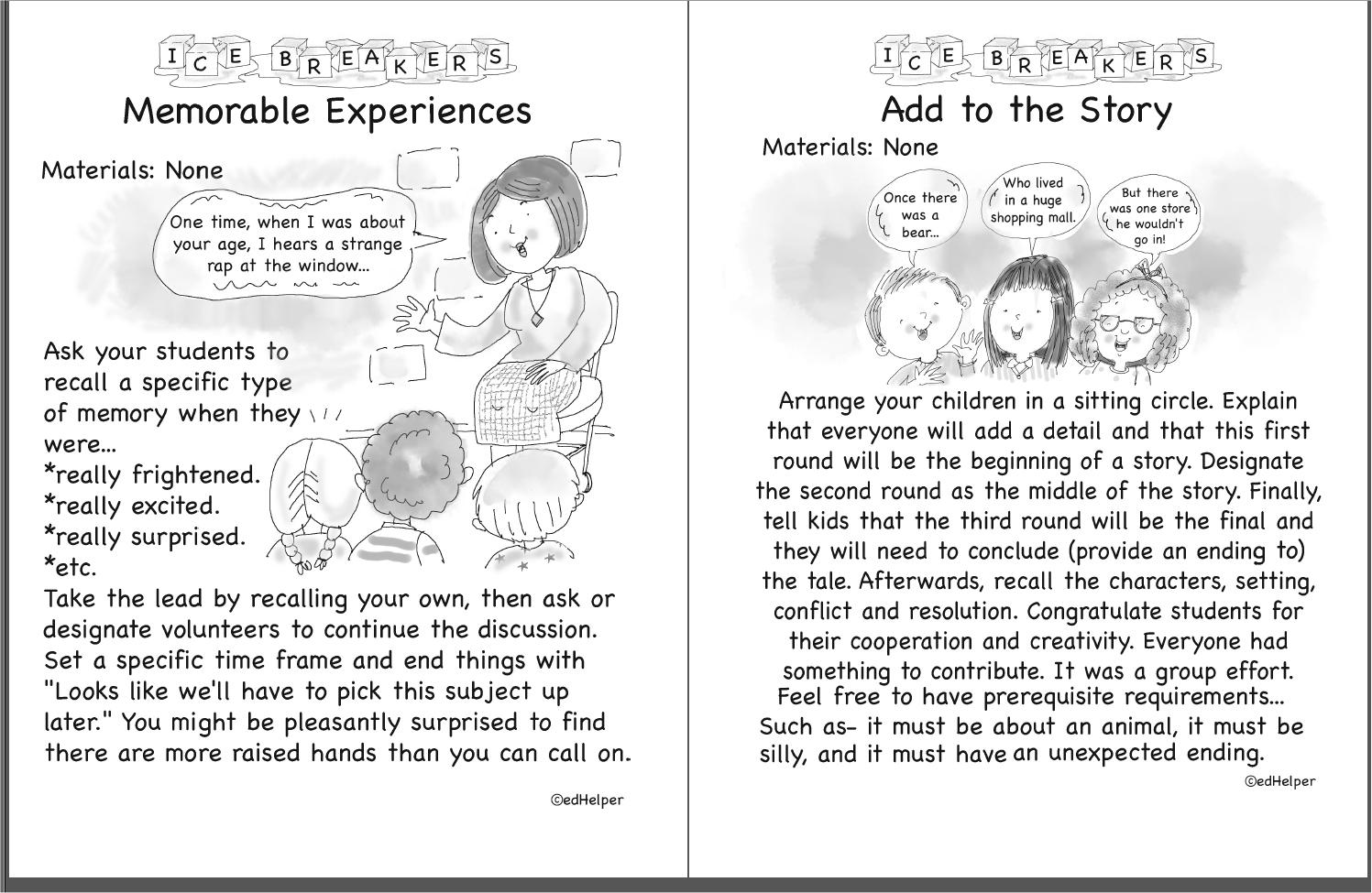 Kindergarten Ice Breakers (Free PDF Download)