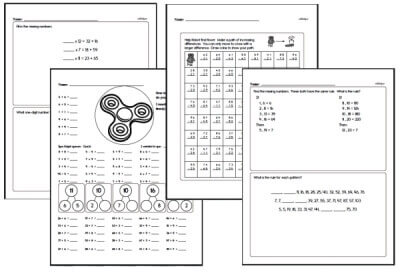 Math Minutes - Free Classroom Math Practice Worksheets