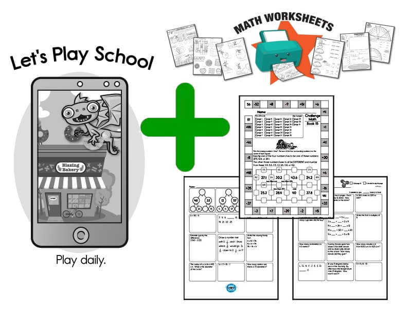 Combine Math Games with Math Worksheets