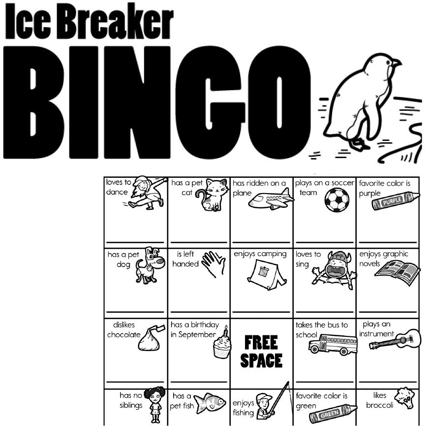 Free Ice Breaker Bingo Printables