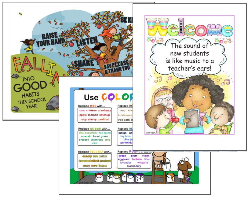 September Poster Pack - Posters, Bulletin Board Ideas, and Back to School Printables to Decorate your Classroom (Top PDF Download - Hundreds of pages!)