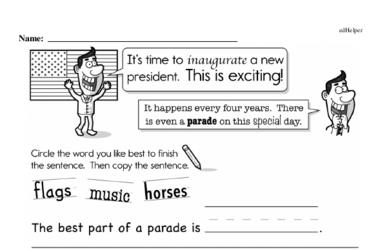 Kindergarten Inauguration Workbook - Writing, Reading, and Activities