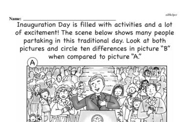 Third Grade Inauguration Workbook - Writing, Reading, and Activities