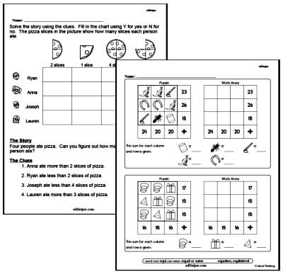 Mind Bending Critical Thinking Puzzle Workbooks For Kids