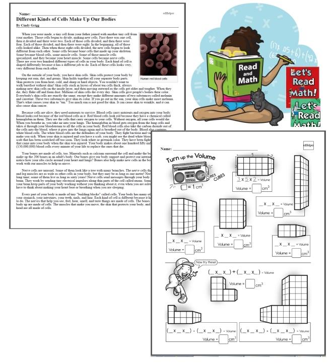 Reading with Math Workbook