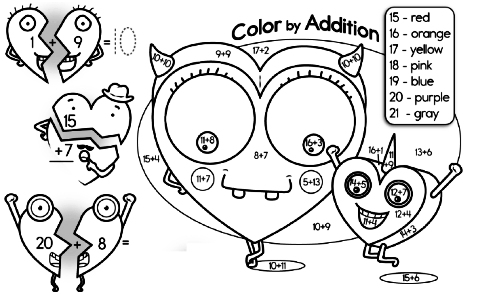 Color by Math - Coloring Pages using Math that you will Want to Print