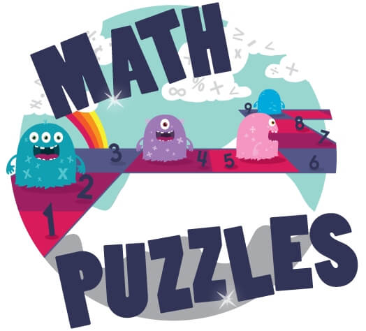 Math Puzzle Worksheets For Kids in 1st to 6th Grades