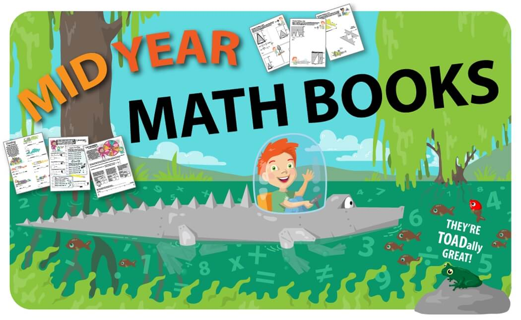 Mid Year Fifth Grade Math Review Book