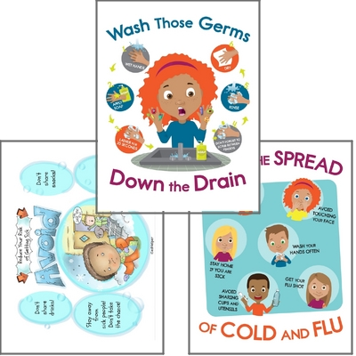 Wash Hands - Stop the Spread of Germs Posters