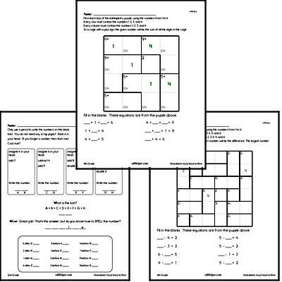 Math Puzzle Worksheets - Free PDF Downloads